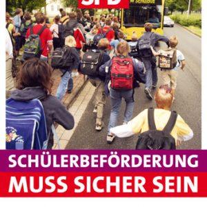 Plakat sichere Schülerbeförderung