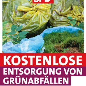 Plakat Grünabfälle