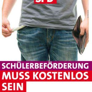 Plakat Kostenlose Schülerbeförderung