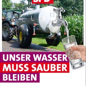 Plakat Sauberes Wasser