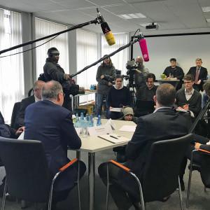 Ministerpräsident Stephan Weil im Schlachtbetrieb der Böseler Goldschmaus GmbH