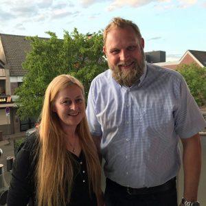 Ulf Prange mit Silke Büscher-Thoben